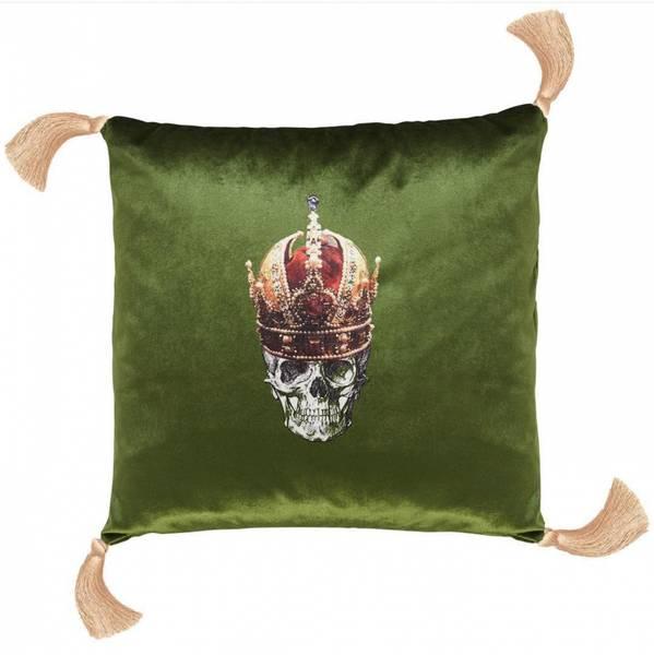 Pute skull with red crown grønn
